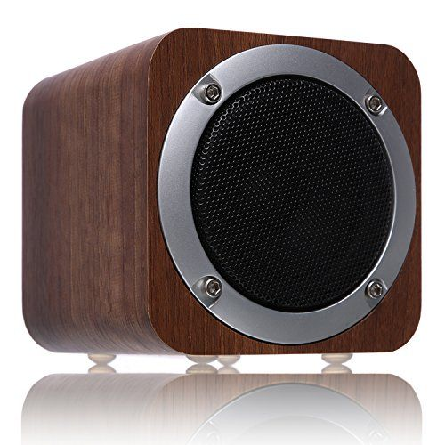 Bluetooth Speaker Wooden ZENBRE F3 6W Portable Bluetooth 4.0 Speakers with 10h Play Time Wireless Computer Speaker with Enhanced Bass Resonator (Black Walnut)