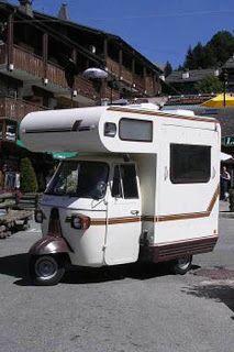 Le Camping Car Passe Partout Le Piaggio Ape Moca Camper Le Plus