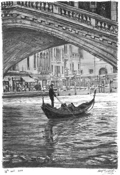 Gondola in the shade - drawings and paintings by Stephen Wiltshire MBE