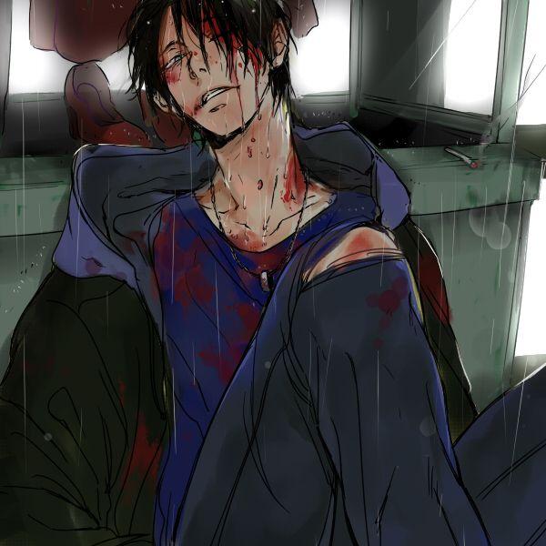 Bloody Abused anime boy Guro Kuroko no Basket Himuro Tatsuya