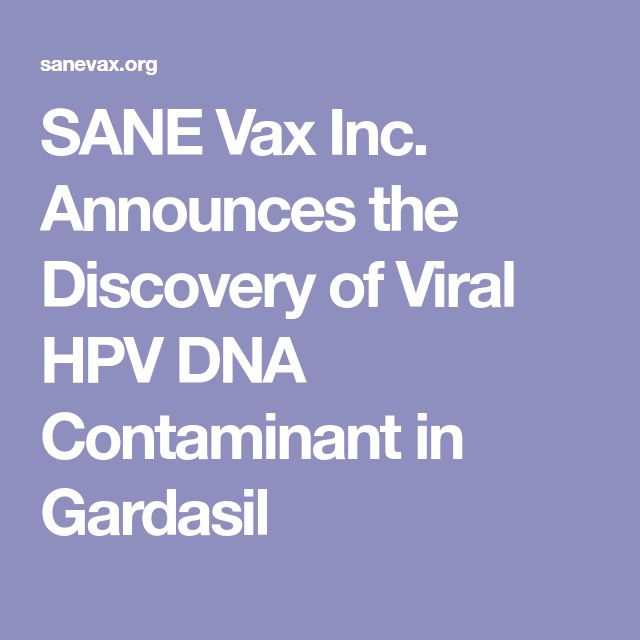 SANE Vax Inc. Announces the Discovery of Viral HPV DNA Contaminant in Gardasil
