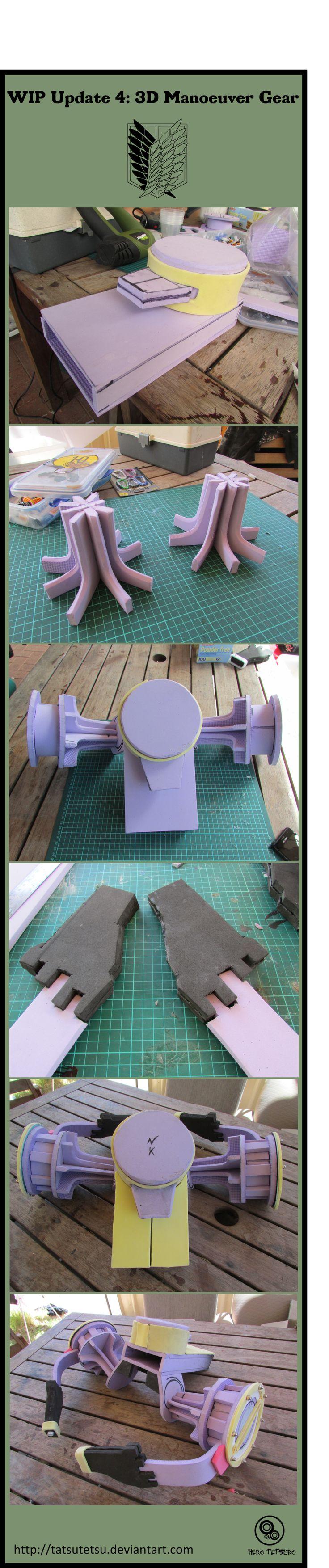 Shingeki no kyojin :3D Manoeuvre Gear WIP Update 4 by Tatsutetsu on DeviantArt
