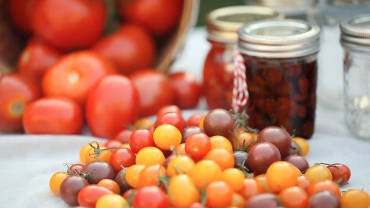 Three simple 7 delicious ways to preserve tomatoes.    Enjoying a bumper crop of luscious fresh tomatoes? Not sure how to store your tomatoes so you can use them all winter long? Wondering what you can do with cherry tomatoes to make them last?