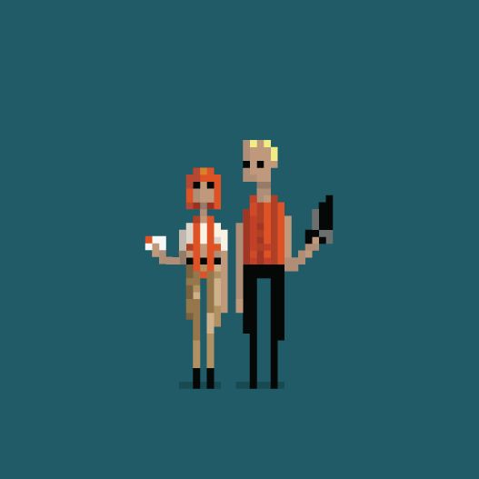 8 of Your Favorite Cult Movies Brought to Life as 8-Bit GIFs | The Fifth Element   Dusan Cezek  | WIRED.com