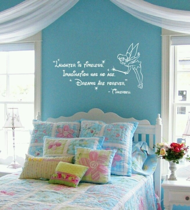 Disney Tinkerbell Quote: Laughter Is Timeless Wall Words Sticker Decal. My  Future Little Girlu0027s Bedroom :)