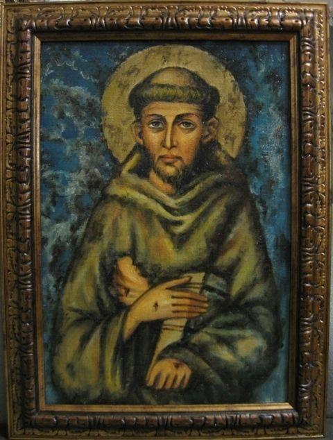 Св.Франциск Ассизский (холст,масло)-художник Ядвига Сенько