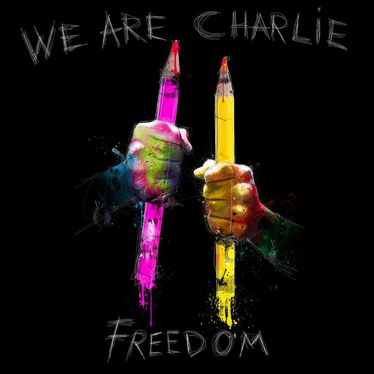 Nous sommes CHARLIE … Artist: Patrice Murciano | our thoughts are with the victims