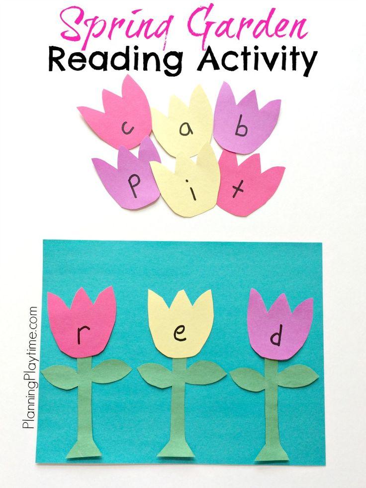 Flower Garden Reading Activity for Spring. So fun.