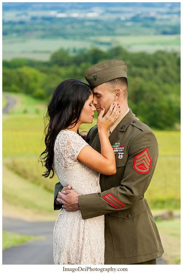Love & Lace  Our Marine Corps, vintage themed engagement photos taken by Xiomara Gard at Imago Dei Photography    http://imagodeiphotography.com/