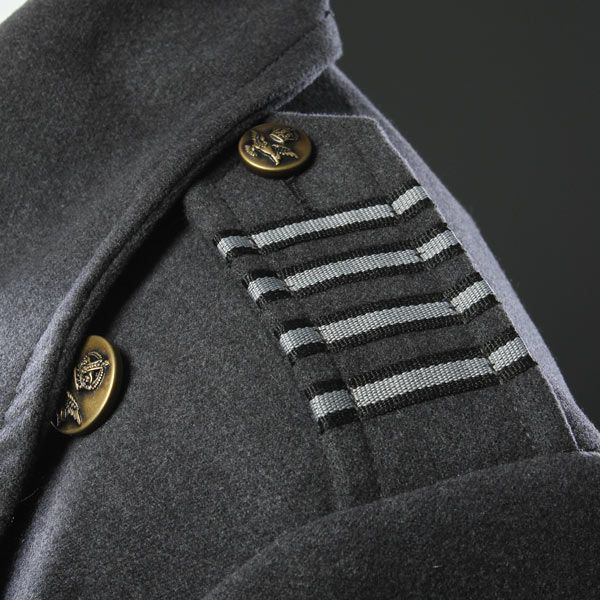 ThinkGeek :: Captain Jack Harkness Coat | Jack's coat reference. Ribbon. Just simple ribbon. Jo-ann Fabrics, here I come!!