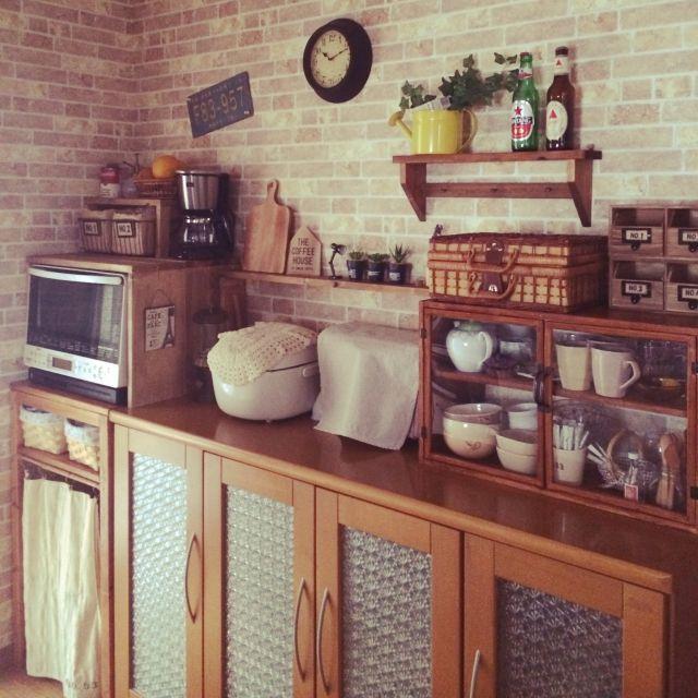 フェイクグリーン/セリア/ダイソー/DIY/Kitchenのインテリア実例 - 2015-04-05 23:17:05 | RoomClip(ルームクリップ)