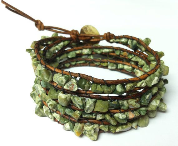 Leather Wrap RHYOLITE Chan Luu Semi Precious Cuff by DESIGNbyANCE, $28.00