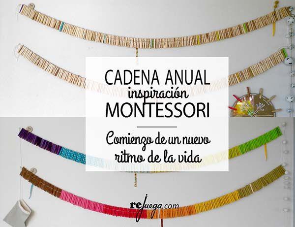 cadena anual inspiración Montessori ritmo de la vida