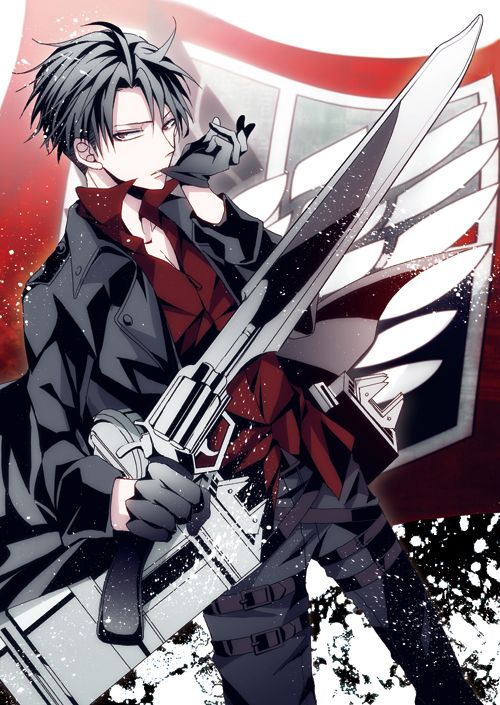 Attack on Titan- Levi but doing the sebastian (BB) glove thing AAAAAHHRRRG i'm dying ryt now!!!