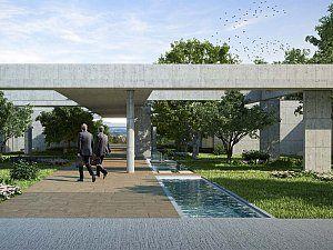 Polatlı Yönetim Binası 5900 m2 lik brüt beton bir saçak altında toplanan açık ve kapalı alanlardan oluşmaktadır.