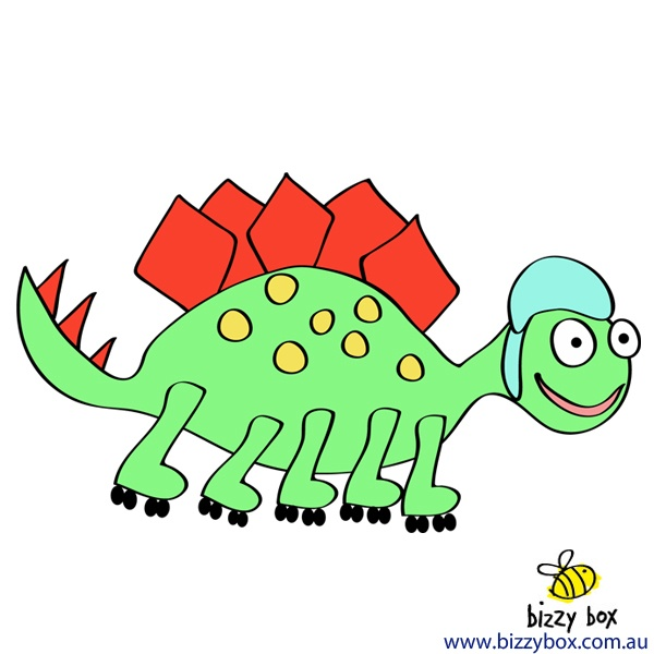 The answer to Monday's riddle is: A Stegosaurus on roller skates! Researchers believe that the Stegosaurus could run as fast as 7kph. Imagine how fast they would have been on roller skates!