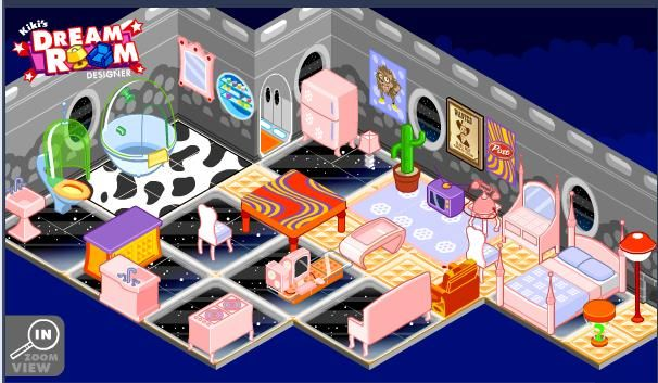 4 room house decorating games