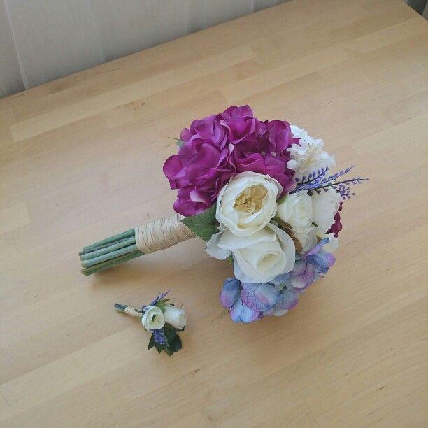 Mavi ve mor gelin buketi #gelin #buket #bridalbouquet