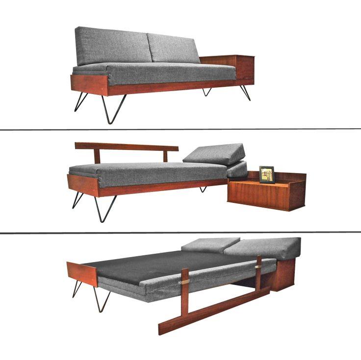 teak danish, day bed, Mid century