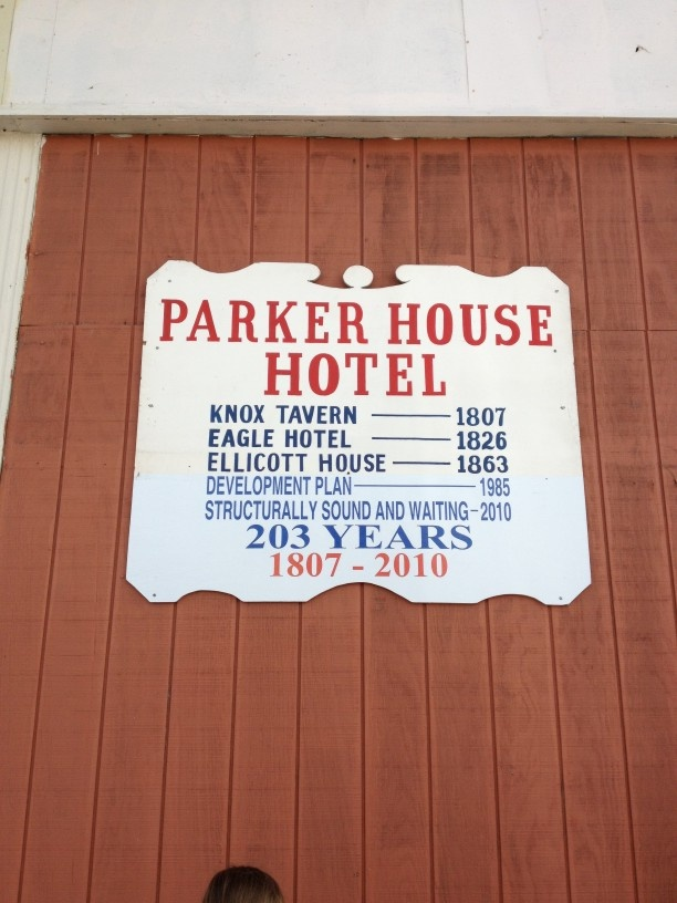 Parker House Hotel Sign Hillsboro Ohio
