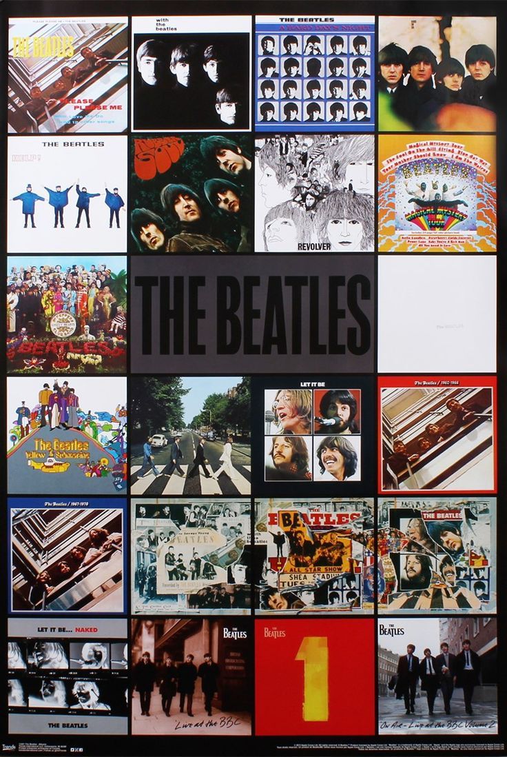 The Beatles Album Montage Poster 57x86.5cm in Home & Garden, Home Décor, Posters & Prints | eBay