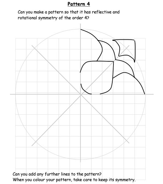 Share: Title:Symmetry order 4 Description:Rangoli based symmetry exercise –An activity based on Rangoli Patterns to provide opportunities for illustrating reflective and rotational symmetr…