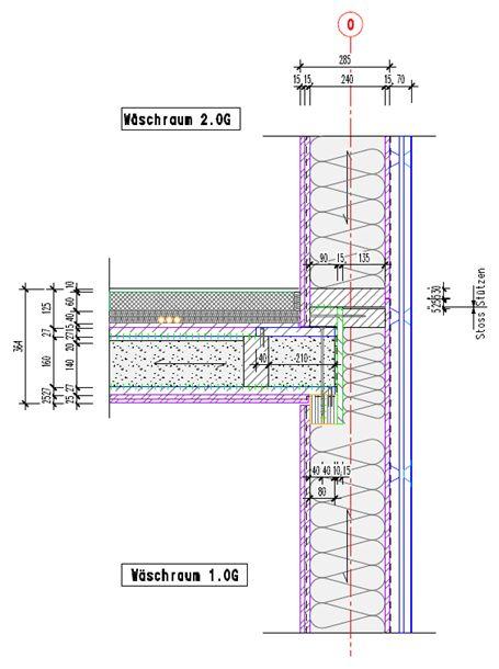 Holzbau detail wand  Solche Details bereinigen die technischen Projektleiter, hier ein ...