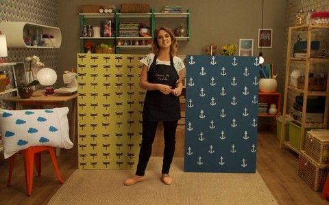 Oficina da Thalita - GNT: DIY carimbos para parede e outros objetos