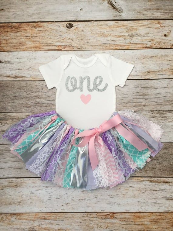 Pink Purple Aqua and Silver Birthday Outfit, Pink Purple and Aqua First Birthday, Pink Purple Aqua F