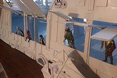 McRobo Creations - Star Wars Jabba's Sail Barge, Deluxe Version. 16 hinged doors.