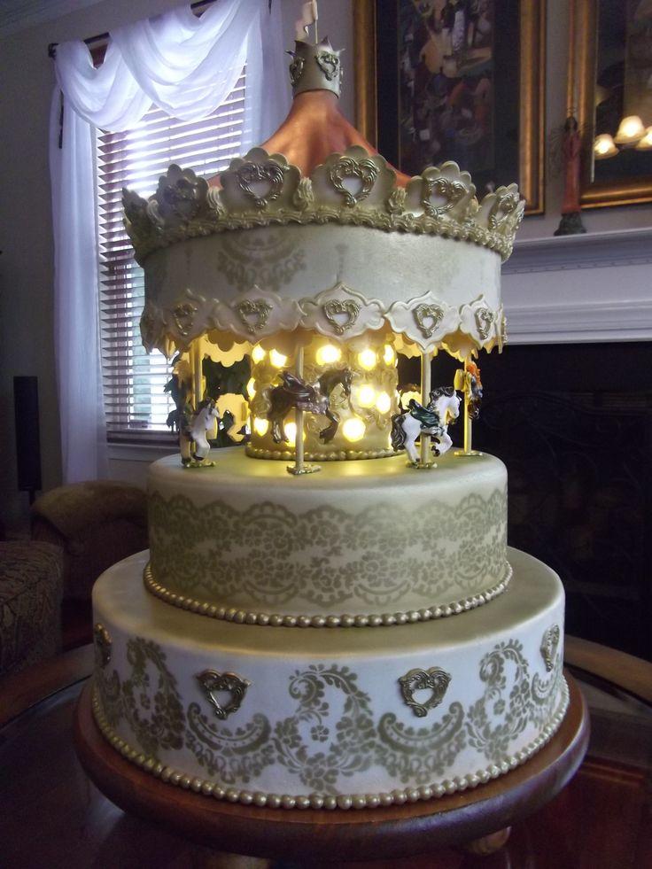 Cake Art Affair : 57 best Carousel Cakes images on Pinterest Carousel cake ...