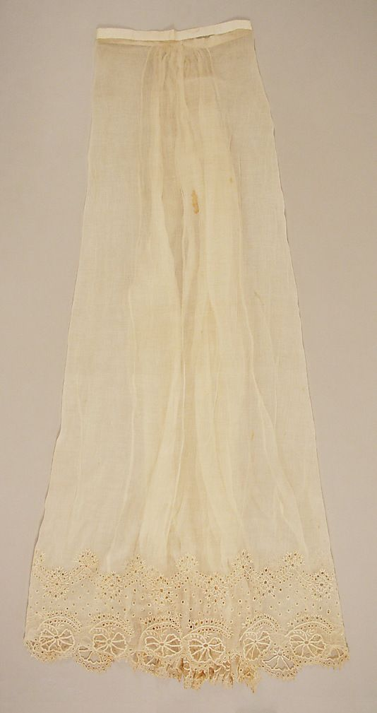 early 19th century petticoat - in the Metropolitan Museum of Art costume collections.
