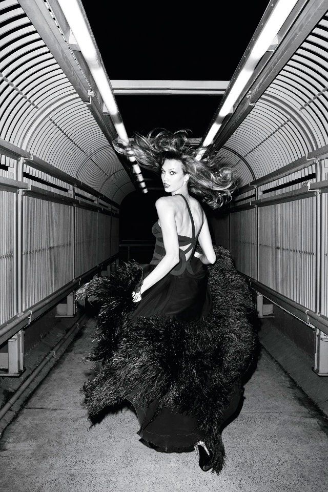 Karlie Kloss in Versace. Photo by Terry Richardson for Vogue UK Nov 2011