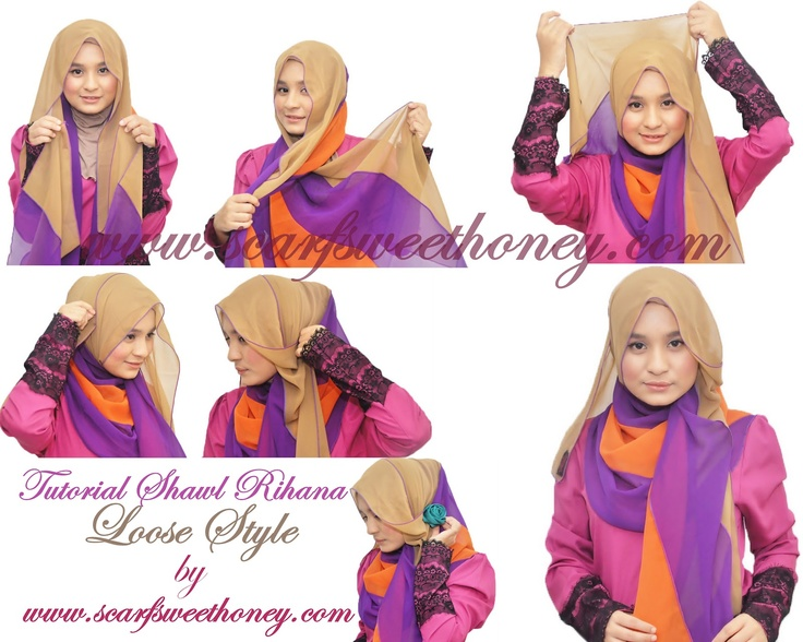 Hijab Tutorial ~ Scarf Sweethoney | Visit our pintrest.com/hijabtutorial