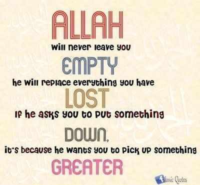 Allah will never leave you empty! ❤️ #Faith #Islam #Muslims
