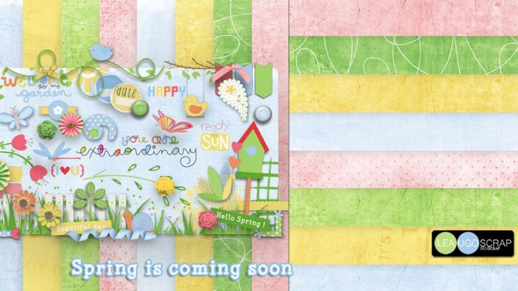 Spring is coming soon by LeaUgoScrap