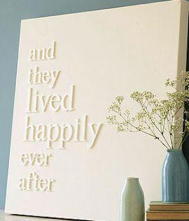 DIY Love Quote Canvas