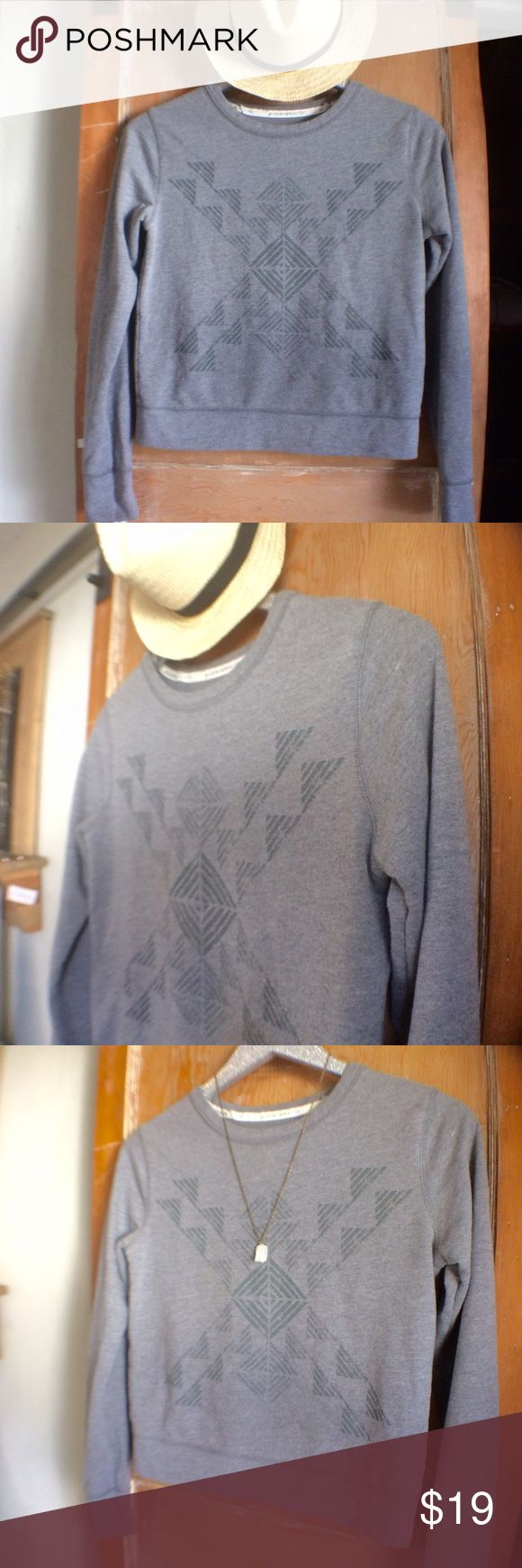 NWOT Toms Geometric Print gray Crew cut sweatshirt This crew cut sweatshirt is so cute. Made by TOMS, features a great Geometric Print and perfect heather gray color. So cute. 🌞🌈🌳 Sweaters Crew & Scoop Necks