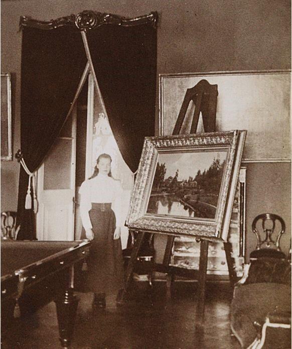 "Grand Duchess Olga Alexandrovna Romanova of Russia at Gatchina Palace in 1896.    ""AL"""
