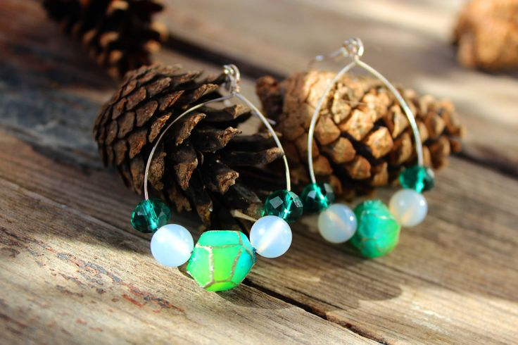 Agate yoga earrings, Healing earrings, Meditation earrings, Agate jewelry, Geometric earrings, Minimalist jewelry, Gemstone jewelry, Crystal by BijouxChatNoir on Etsy