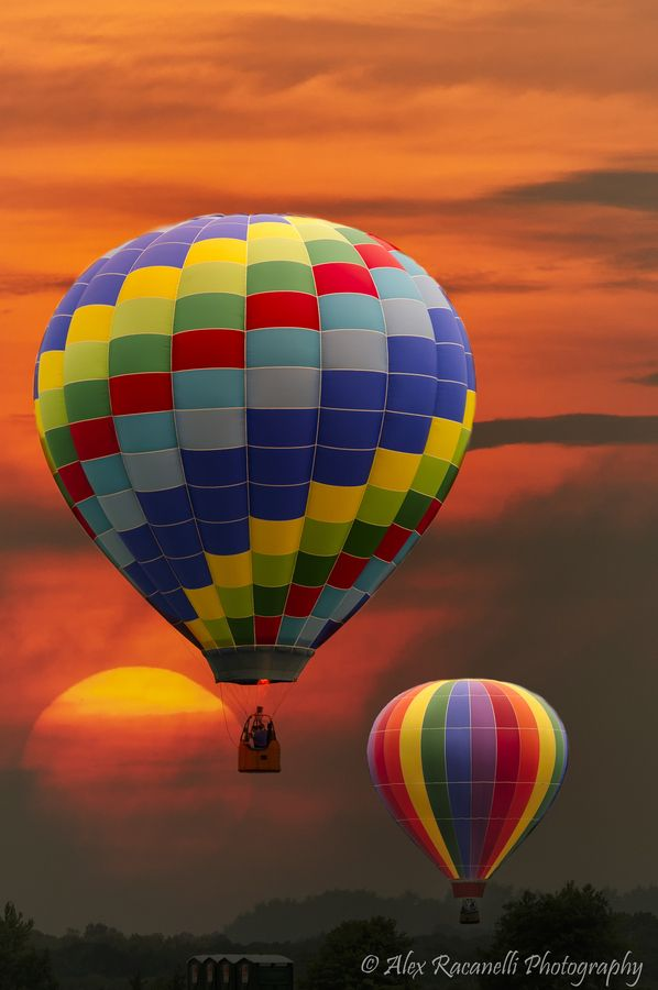 Festival of Ballooning, Readington, NJ- my one sister lives near here, we watch from her backyard...
