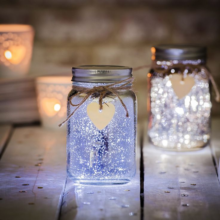 This LED Firefly Jar works through the inclusion of a string of LED lights inside the glass jar, powered by batteries .