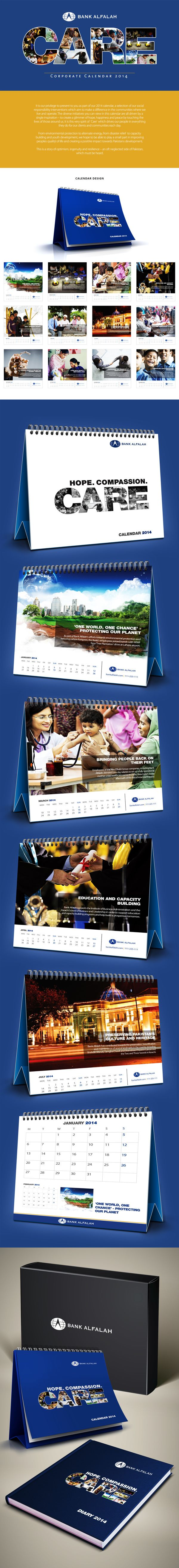 Alfalah Corporate Calendar 2014 by Muhammad Moazzam, via Behance
