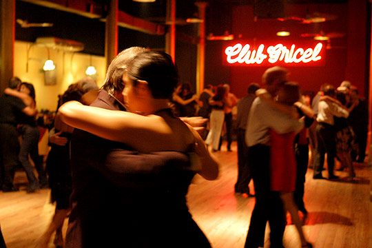 Dancing the tango in Buenos Aires at one of its many milongas
