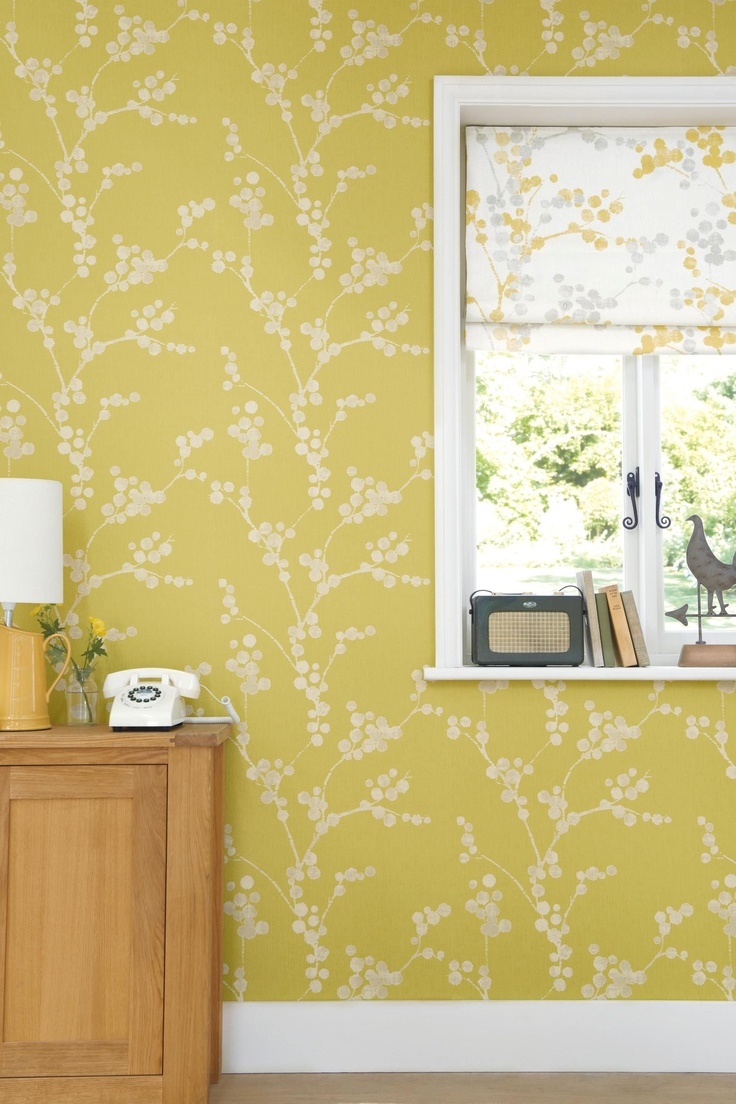 Buy Elissia Ochre Wallpaper from the Next