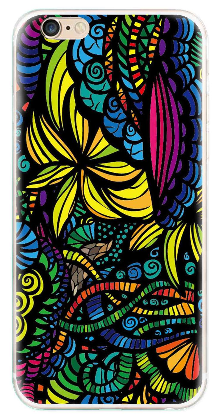 Whatskin DIY Style Colored Painting Series 03 Clear Back Cover for iphone 6