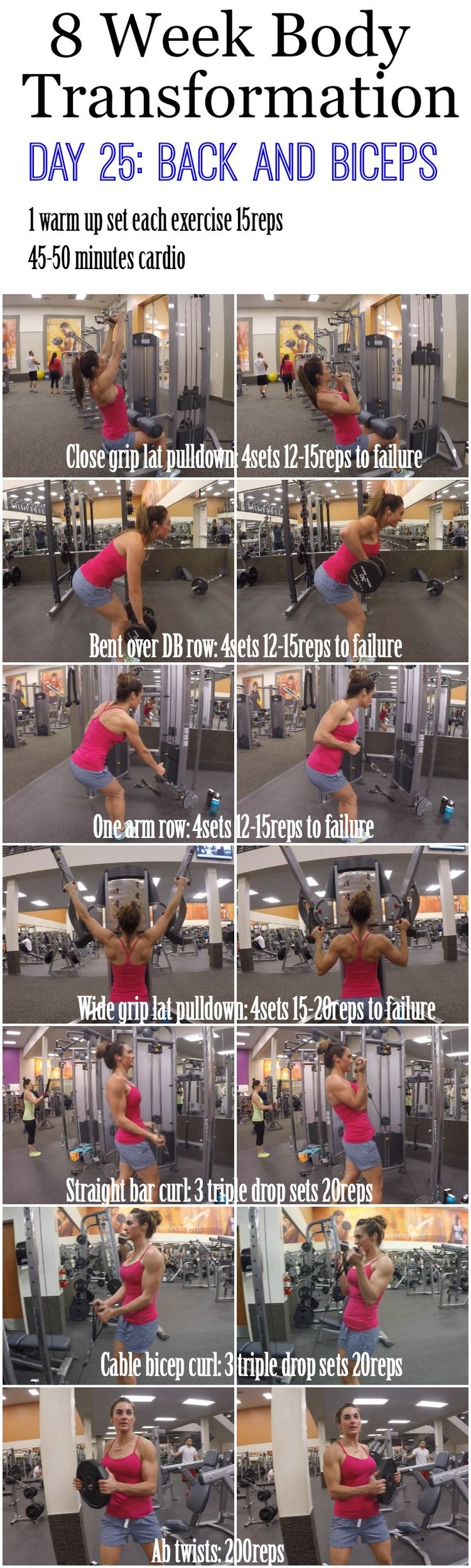 Build bigger biceps with this one trick Day 24 was an Active Rest Day so I hope you all did some good cardio, but left the weights alone! Today we are back at it, as we start Day 25 we are going to be hammering our back and biceps. We are still doing our sets to failure so push yourselves and challenge …