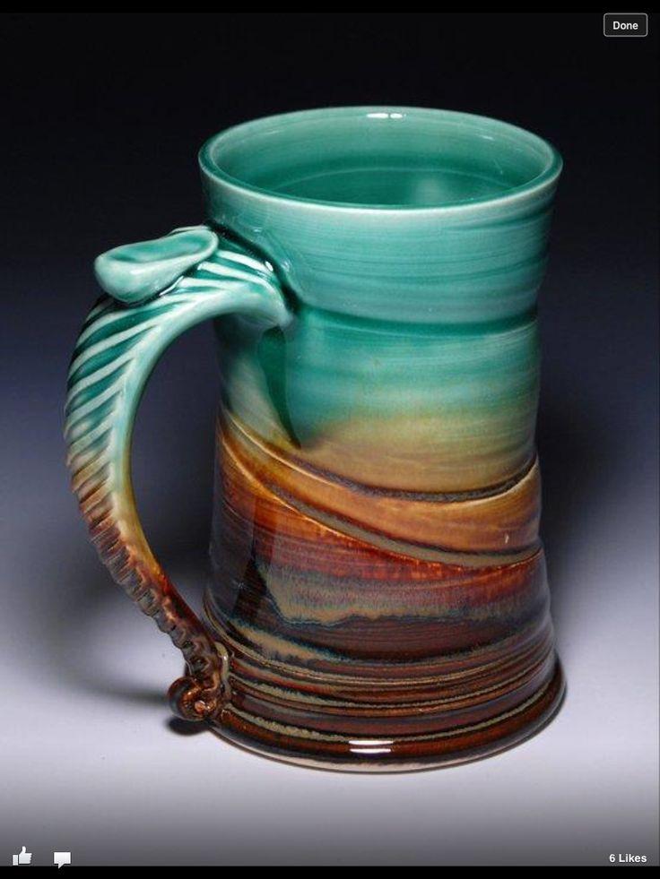 25 best ideas about ceramic mugs on pinterest ceramics for Clay mug ideas