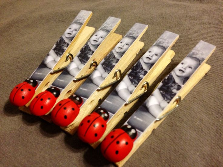 Ladybug Birthday Party Favor Photo Magnet Clips by OneMoreSunshine, $20.00