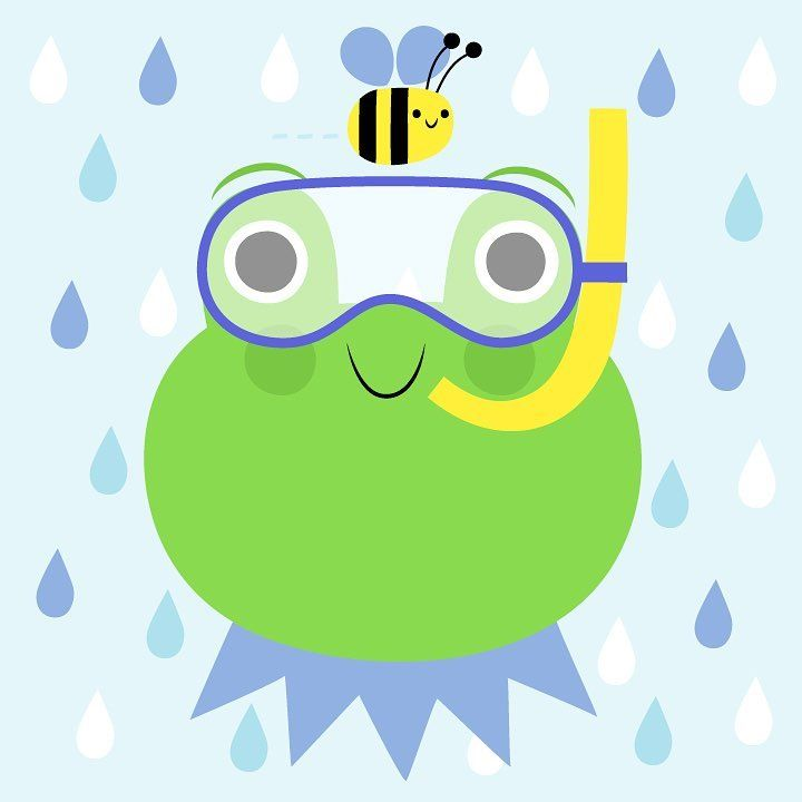 This is Jade! Jade's best friend is Betsy the Bee and their favorite thing to do is brighten up rainy days. Dress Jade up with an umbrella, rainbow, snorkel and more (all included in Jade's pack) from our app Emoji Pals! Now available in the App Store! #emojipals #frog #rainydays #emojis #apps #beefriends #freeapps